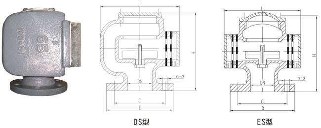 船用D、DS浮筒式油舱空气管头CB/T3594-94